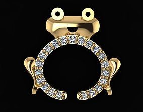 Frog necklace or earrings 3D print model