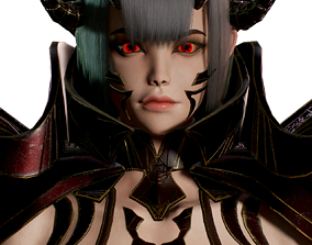 Succubus Female Game Ready Low-poly 3D model rigged