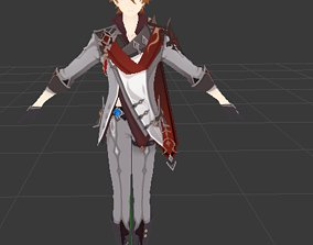 3D model rigged low-poly Child