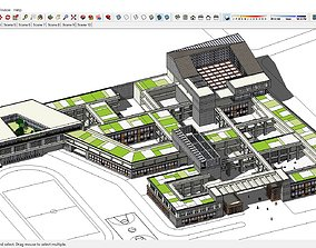 Sketchup Architecture - School Combination N4 3D model