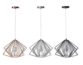 3D Brenton Copper Pendant Lamp
