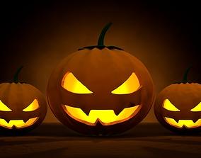 Halloween Lanterns 3D asset