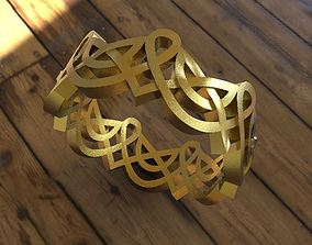 ring with Celtic ornaments 3D print model circle