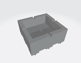 Ashtray 3D printable model interior