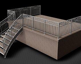3D model Guardrail at balcony