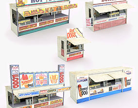 Fast Food Shops 3D model