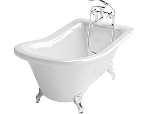 Freestanding bath with oldstyle mixer 2 3D model