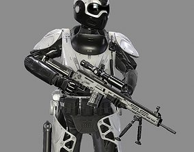 3D asset Military Exoskeleton R-40 Nemesis