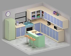 Kitchen 3D asset game-ready