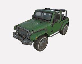3D model Abandoned car 64