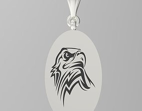 Eagle pendant jewelry woodworking 3D printable model