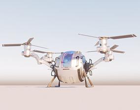 Cargo QuadCopter sci fi 3d model vray