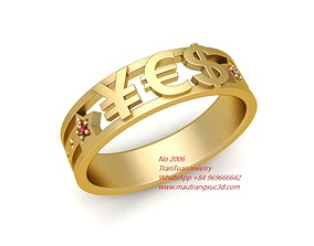 2006 Currency symbols ring 3D printable model