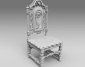 3D print model Medieval chair