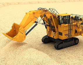 mining Mining Excavator 6060 3D model Rigging rigged