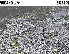 3D Nagano Japan 50x50km