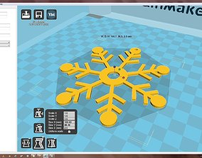 xmas-holiday 3D printable model Snowflake
