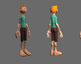 3D model rigged child Satan