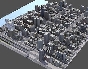3D model Abstract New York City Cityscape