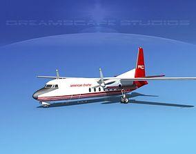 Fairchild F-27 American Charter 3D model