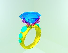 3D asset gemstone ring