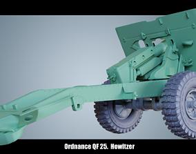 barrel 3D model Ordnance QF 25 Howitzer