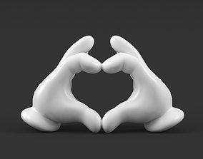 3D printable model Mickey Hand Heart