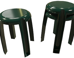 collection 3D model Plastic Chairs