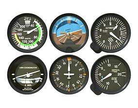 Aviation Instruments Six Pack 3D
