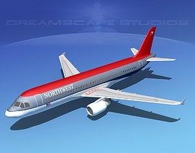 Airbus A320 LP Northwest Airlines 3D model