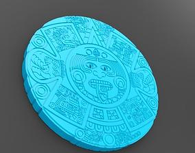 3D printable model Aztec Calendar Carving gem