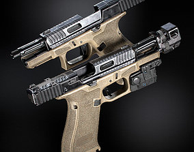 Glock 19x custom with attachments 3D