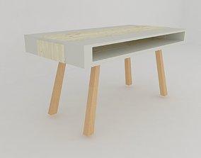 3D asset Scandinavian style dining table