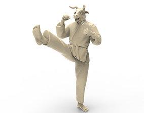 Ox Front kick 3D print model