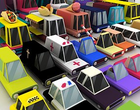 Vehicles Low Poly Pack 3D model