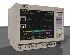 Animated ECG Monitor - Medical Equipment 3D