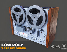 3D asset Akai GX4000d Tape Recorder - PBR Game Ready model