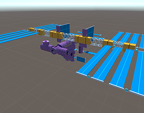 3D International Space Station ISS - Cartoon VR / AR ready