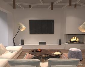 3D modern interior hall