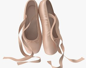 Ballet Shoes - Resting 3D model