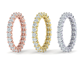 Diamond Eternity Ring 3d model many sizes