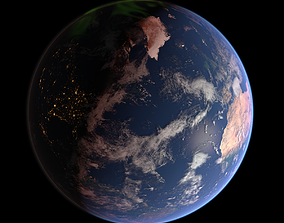43K Realistic Earth Aurora Lights 3D