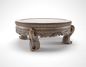 3D model carved round table