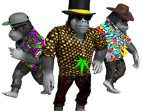 realtime Lowpoly 3D Gorilla