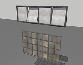 Factory windows pack 4 3D model game-ready