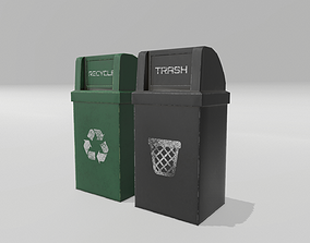 3D model Trash and Recycle Bins