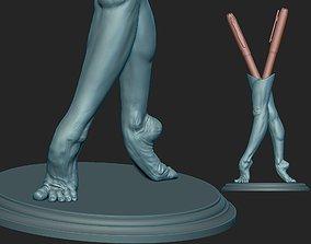 Balerina Feet Artwork PenHolder Print ready 3D model