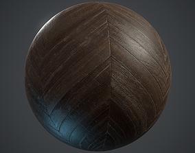 Old chevron Parquet - PBR textures 3D model