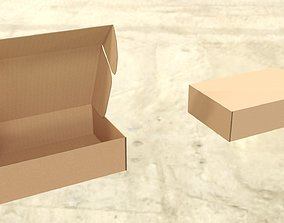3D asset Cardboard box mail