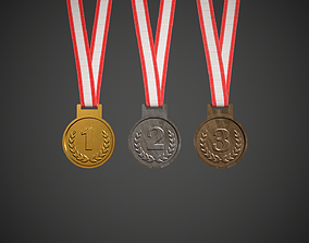 3D asset Olympic Medals Sport Competition Medals